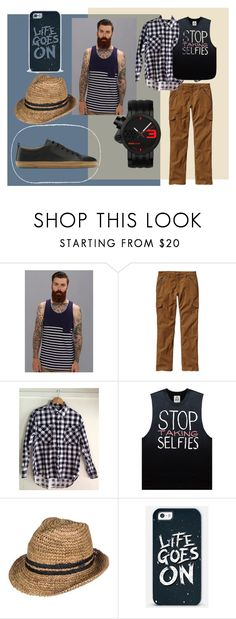 """""""my handsome man"""" by xrizantemka ❤ liked on Polyvore featuring Alternative, Patagonia, Roxy and VIVOBAREFOOT"""