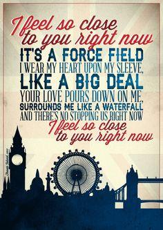 Feel so close - Calvin Harris #lyrics #typography