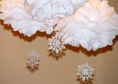 Snowflake poms