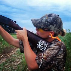 I mean if I'm gonna hunt at all, I say I get a pink gun with a monogram :) Charles will love it!!!!  @Amber Sutton