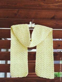 Шарфы и шарфики ручной работы. Ярмарка Мастеров - ручная работа Хлопковый шарфик нежно-лимонного цвета. Handmade.