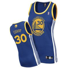 Stephen Curry Swingman In Royal Blue Adidas NBA Golden State Warriors  Women s Road Jersey 7a1dca4f1