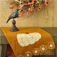 Fall Penney Pumpkin Table Runner