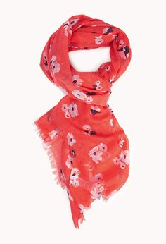 Sweet Abstract Floral Scarf | FOREVER21 - 1040763057