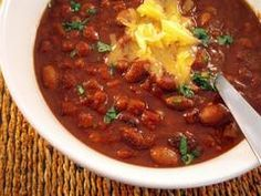Tasty Eats at Home » Vegetarian Bean and Pumpkin Chili, plus a Gluten-Free Cheddar Serrano Biscuit