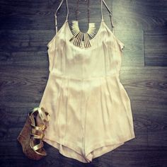 A cute romper with heels.