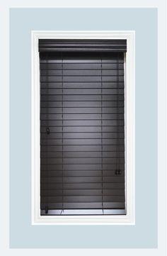 Real Wood Black Venetian window blinds