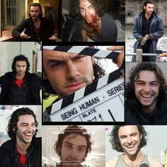Aidan Turner behind the scenes of Being Human uk