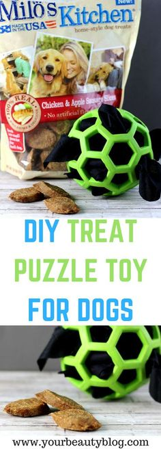DIY Treat Puzzle Toy For Dogs | Everything Pretty  I stuffed it with Milo's Kitchen home-style dog treats from Meijer #ad #miloskitchen #Pmedia