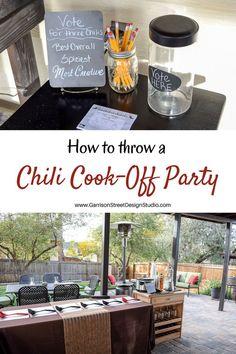 Chili Cook-Off Party | Garrison Street Design Studio