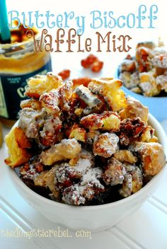 Buttery Biscoff Waffle Mix. A delicious brunch-inspired snack mix that tastes like buttered waffles, Biscoff and cinnamon.