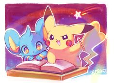 Let's do this work! ...  From kori7hatsumine ...  shinx, pikachu, pokemon