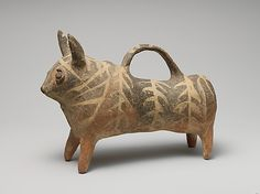 Terracotta vase in the form of a bull, late Cypriot period (ca. 1450-1200 BC), Cypriot
