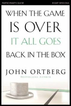9780310340546 When the Game is Over, It All Goes Back in the Box ORTBERG, JOHN £9.99 9780310810186 When the Game is Over PG + DVD ORTBERG, JOHN £19.99 9780310808244 When the Game is Over DVD ORTBERG, JOHN £20.99 9780310808190 When the Game is Over PG ORTBERG, JOHN £6.99