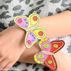 Butterfly Paper Bracelets for Kids