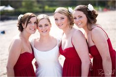 Oxwich Bay Wedding Photography  Beach Wedding Idea's  Welsh Wedding  beautiful wedding photo's - bride and bridesmaids - backlit