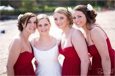 Oxwich Bay Wedding Photography  Beach Wedding Idea's  Welsh Wedding  beautiful wedding photo's - bride and bridesmaids - backlit