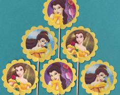 Princess Belle Cupcake Toppers Birthday Party by TopperoftheWorld, $9.00