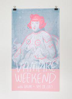 littlealienproducts:  Vampire Weekend Poster // $22