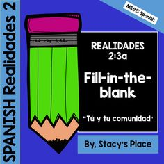 Realidades 2: 3A Fill-in-the-blank activity