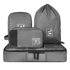 Ecosusi Packwürfel-Set universelle Kleidertaschen geniales Reise-Zubehör für Damen und Herren