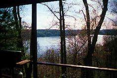a cabin overlooking Tappan Lake