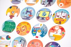 Education and science flat icons set by painterr on @creativemarket