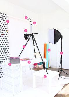 Home Photo Studio, Home Studio Setup, Studio Room, Configuration Home Studio, Youtube Setup, Youtube Home, Ideas Habitaciones, Beauty Video Ideas, Room Setup