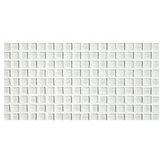 """PHENOMENA GLASS MOSAIC - Zircon White, Gloss and Matte Finish 5/8"""" X 5/8"""" CheckerMate Mosaic. A gentle palette of unique glass colors which coordinate perfectly with stone, cabinetry and fixtures. Complete Tile Collection MI#: 263-G2-271-052 #GlassMosaic"""