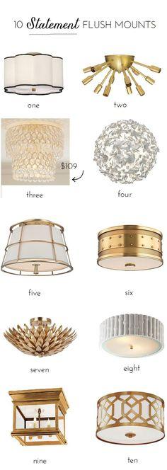 10 flush mount lighting options that make a statement
