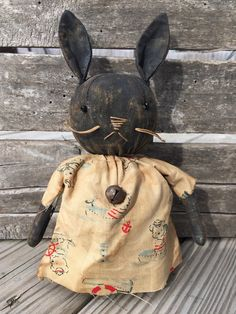 Primitive Grungy Beatrice Bunny Rabbit Easter Doll  #NaivePrimitive