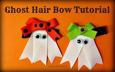 Oh my cuteness! This ghost hair hair bow tutorial is awesome. Step by step direc Oh my cuteness! This ghost hair hair bow tutorial is awesome. Step by step direc Halloween Hair Bows, Halloween Crafts, Holiday Crafts, Fun Crafts, Fabric Bows, Ribbon Bows, Fabric Flowers, Ribbons, Ribbon Hair