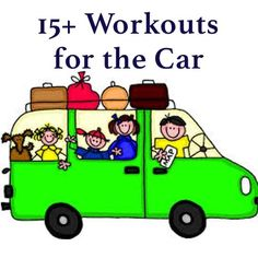 Looking for to burn some calories on those long car rides? Car workouts are the answer! Here are some exercises you can do in the car. Don't fool yourself into believing this is a substitute for your normal workout. But as long as you're moving, you're burning calories.