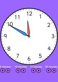 Une horloge interactive qui couplée à un TBI vous permettra de découvrir l'heure avec le groupe classe.