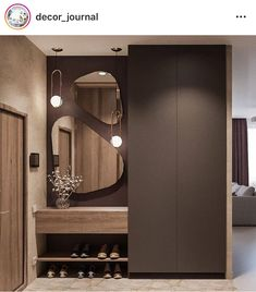 Hallway lighting ideas entrance halls mirror 20 new ideas Wardrobe Door Designs, Wardrobe Design Bedroom, Bedroom Bed Design, Hall Wardrobe, Modern Wardrobe, Home Entrance Decor, Entryway Decor, Entrance Halls, Home Decor