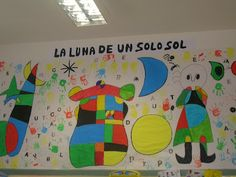 "PROYECTO: ""JOAN MIRÓ"" Más School Art Projects, Art School, Artist Project, Spanish Art, Art Van, Classroom Crafts, First Art, Art Plastique, Famous Artists"