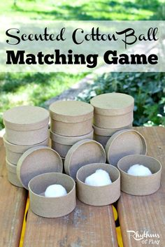 Scented Cotton Ball Matching Game