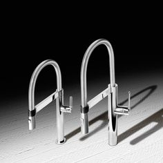 New chef-inspired BLANCO CULINA™ MINI faucet combines water-saving performance with a unique closed coil and magnetic holder – all in a right-sized profile for open floor plans. #Faucetdesign #Kitchendesign #Faucet