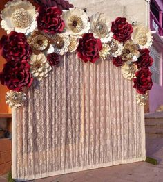 Popular quinceanera party planning check my reference Quince Decorations, Quinceanera Decorations, Quinceanera Party, Birthday Decorations, Wedding Decorations, Paper Flower Backdrop, Paper Flowers, 15th Birthday, Birthday Parties