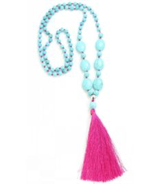 Add a touch colour and creativity to your outfit with our Collection. This season is all about chunky chains, vibrant tassels and statement pieces. Get festival ready as you browse our selective range of jewellery. Bohemian Necklace, Tassel Necklace, Festival Jewellery, Boho Chic, Gypsy, Tassels, Turquoise, Chain, Beads