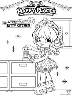 Find More Coloring Pages Online For Kids And Adults Of Shopkins Happy Places To Print