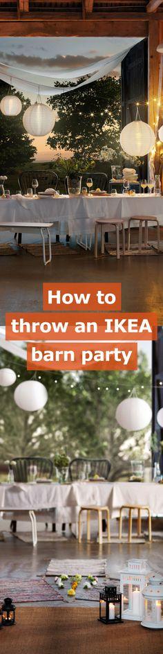 Ain't no party like an IKEA barn party.