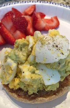 Avocado Egg Salad Open Faced Sandwich