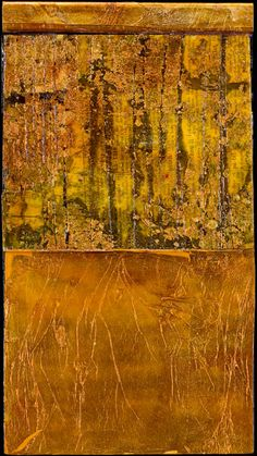 Gay Schy---Glow of Old Age---encaustic/collage