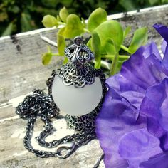 Night Wisp Shar inspired pendant necklace in  by RuthNoreDesigns, $28.00