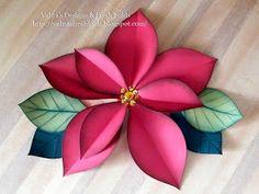Valita's Designs & Fresh Folds: Giant Poinsettia flowers using Spellbinders Ornament dies