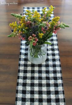 Building Our Hive: Easy Buffalo Check Table Runner