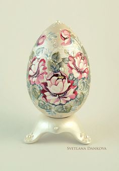 Easter hand painted  egg   vintage style  от LaivaArt на Etsy