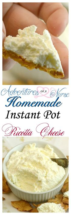 Instant Pot Ricotta Cheese Creamy and delicious and very easy to make right at home.