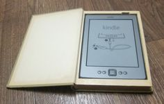 Irony? ........Carry your Kindle hidden inside a real book Kindle holder carrying case Upcycled hollow book eBook Safe. $25.00, via Etsy.